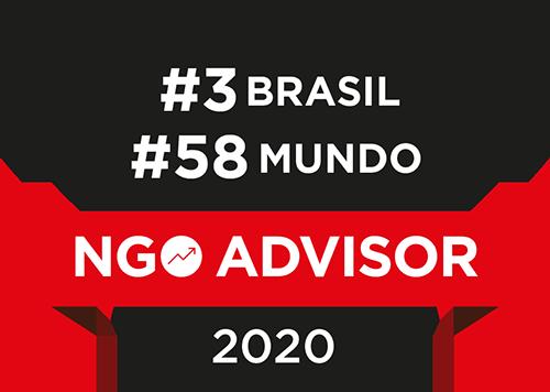 NGO Advisor 2018. #3 Brasil e #70 Mundo