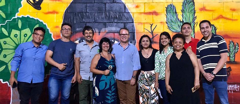 Equipe e diretoria CIEDS em foto comemorativa na cerimônia de abertura